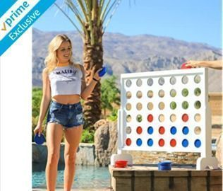 HOT! Giant Wooden 4 in a Row Game (Prime Members)
