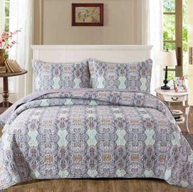 Quilt Bedspread Sets-Reversible Coverlet Set