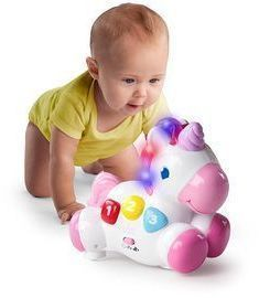 Bright Starts Rock & Glow Unicorn Toy with Lights and Melodies