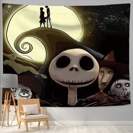 Nightmare Before Christmas Tapestry Wall Hanging