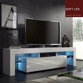 TV Entertainment Center with LED Lights