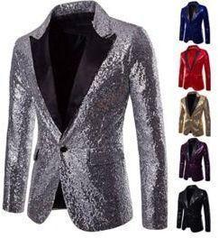 Mens Sequins Dress Coat