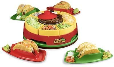 Taco Tuesday Turntable Taco Bar w/ Taco Holders