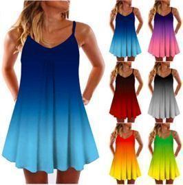 Summer Mini Sleeveless Boho Dress