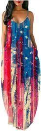 American Flag Camisole Long Dress