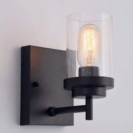 Black Wrought Iron Wall Sconce