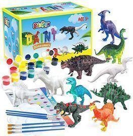 BAODLON Kids Arts Crafts Dinosaur Toy Painting Kit