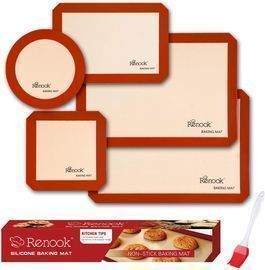 Renook Non-Stick Silicone Baking Mats (Set of 5)