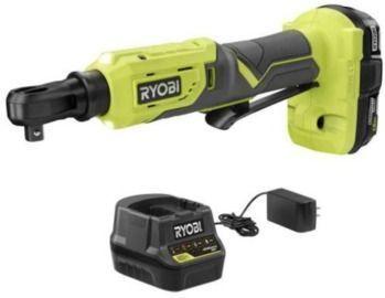 RYOBI ONE+ 18V Cordless 3/8 in. 4-Postion Ratchet Kit
