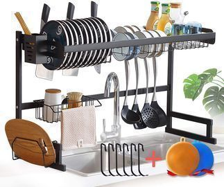 Over the Sink Dish Rack 2 Tier Stainless Steel Dish Rack