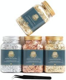 Gold Leaf Flakes Set - 4 Bottles