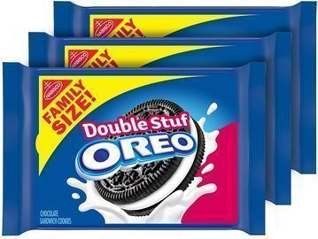 3-Count 20-Oz Oreo Family Size Double Stuf Chocolate Sandwich Cookies