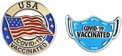 COVID19 Vaccinated Pin Set