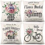 18x18 Spring Pillow Covers - Set of 4