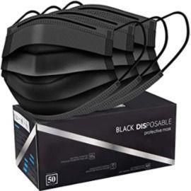Pack of 50 Black Face Masks