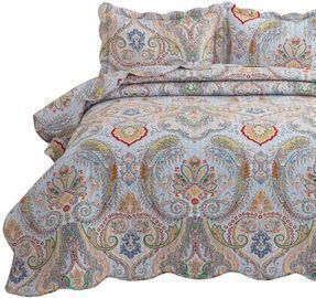 2-Piece Bohemia Paisley Pattern Quilted Bedspread