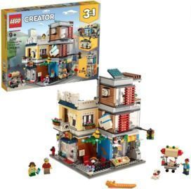Lego Creator 3-in-1 Townhouse Pet Shop and Cafe 31097 Store Building Set