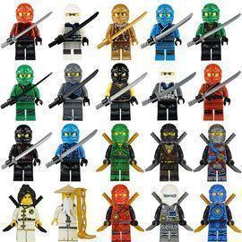 20pcs Ninja Minifigures with Ninja Accessoies