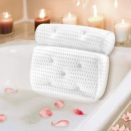 Bathtub Pillow with 7 Non-Slip Suction Cups