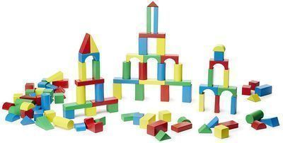 Melissa & Doug Wooden Building Block Set