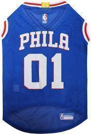 NBA Philadelphia 76ers Licensed Jerseys for Dogs (XL)