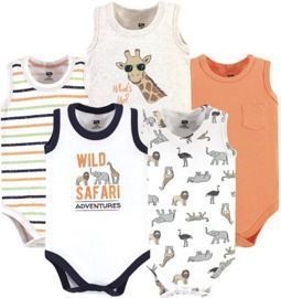 Hudson Baby Unisex Baby Cotton Sleeveless Bodysuits
