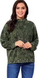 Long Sleeve Turtleneck Sweater for Elder Lady