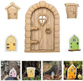 Miniature Fairy Gnome Home Window and Door for Trees
