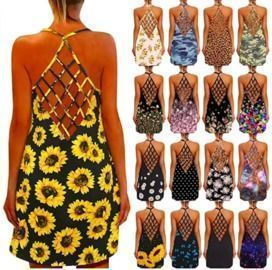 Hollow Out Backless Sundress