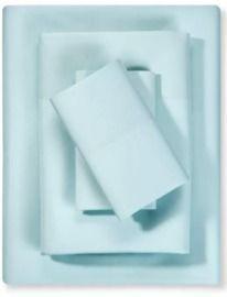 Room Essentials Twin Microfiber Solid Sheet Set - Aqua