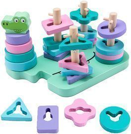 Wooden Sorting & Stacking Toys