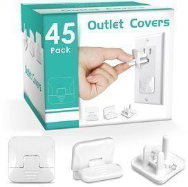 45pk Outlet Covers with Hidden Pull Handle