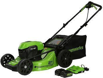 Greenworks 21 Self Propelled Cordless Walk Behind Lawn Mower