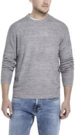 Soft Touch Stripe Crew Neck Sweater