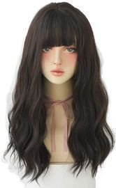 Synthetic Wig - Long Wavy with Bangs