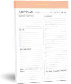 Daily to Do List Magnetic Notepad