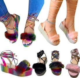Rhinestone Ankle Strap Sandals