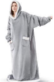 Long Sherpa Wearable Blanket with Pockets
