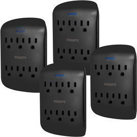 4 Pack of Philips 6-Outlet Extender Surge Protectors