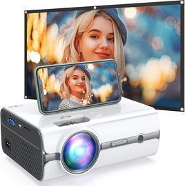 410W Mini WiFi Projector with Projector Screen Included