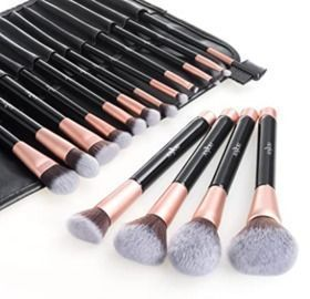 Premium Cosmetic Brush Set, 16pcs