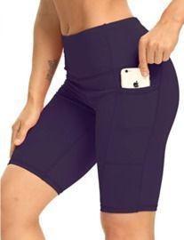 5/8 High Waist Yoga Shorts w/ Tummy Control and Pockets