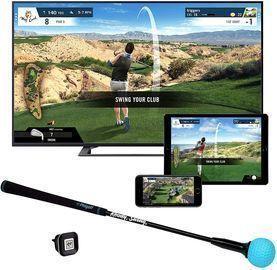 Phigolf Mobile and Home Smart Golf Game Simulator w/ Swing Stick