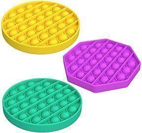 Warju Push Pop Bubble Fidget Toys, 3pk