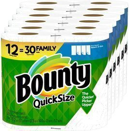 Bounty Quick-Size Paper Towels 12-Family Rolls