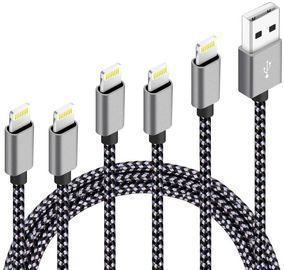5Pack (3ft,3ft,6ft,6ft,10ft) Nylon Braided Charging Cables