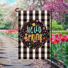 Hello Spring Garden Flag