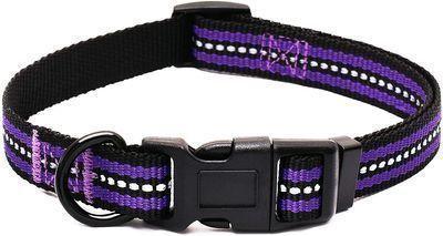 Reflective Double Bands Nylon Dog Collars