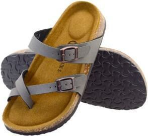 Cork Slide Sandals with Footbed Adjustable Buckle Strap