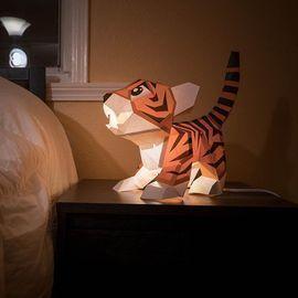 3D Baby Tiger Kirigami Decoration